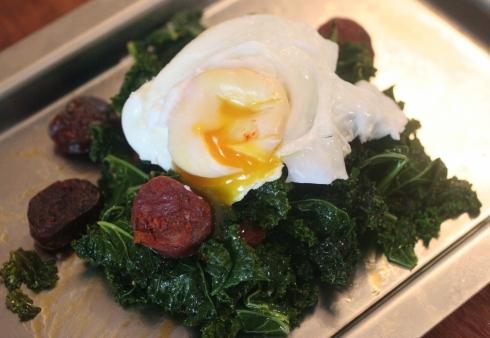 kale chorizo egg